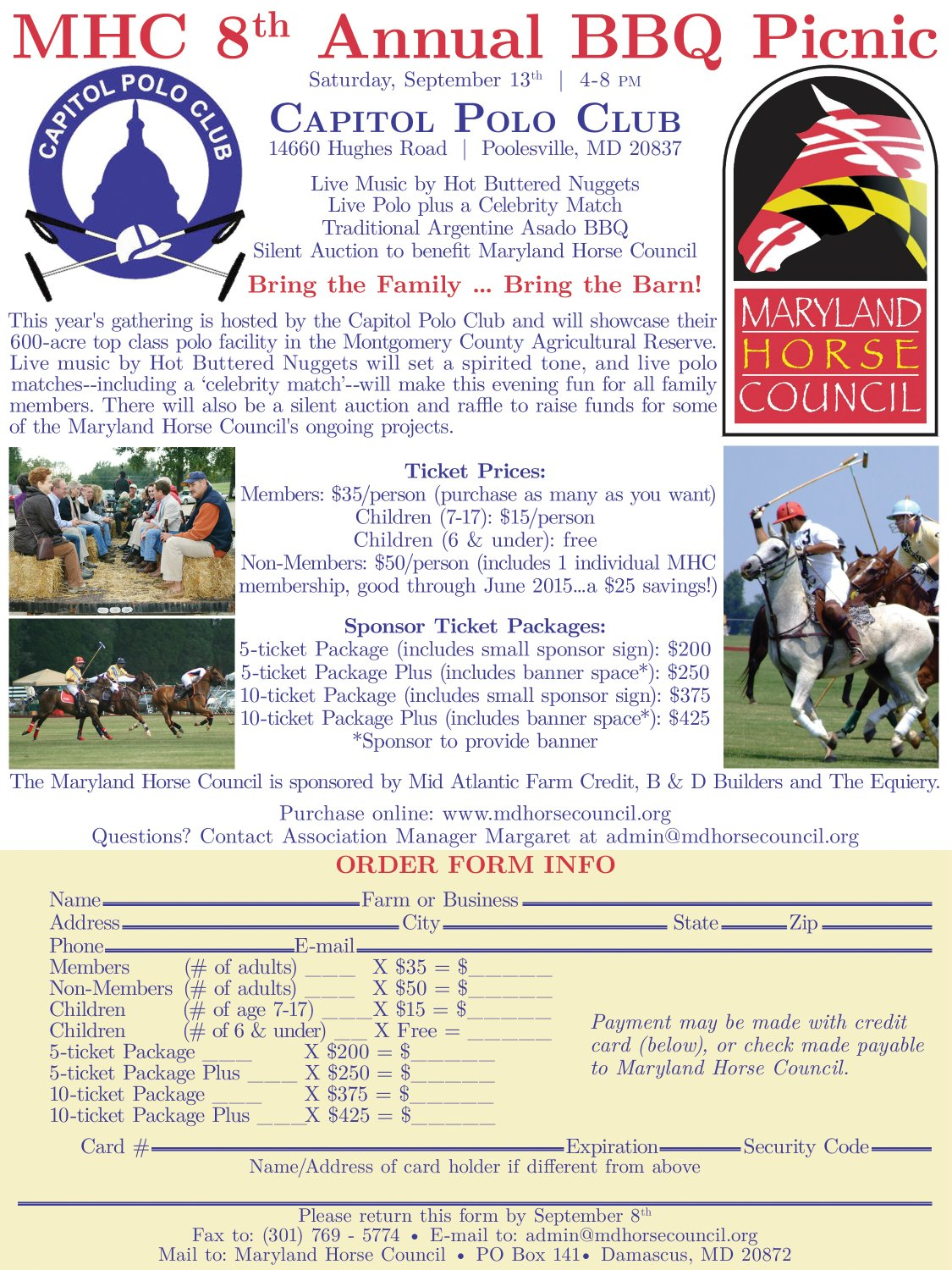 Maryland Horse Council 8th Annual BBQ